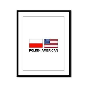 Polish American Framed Panel Print