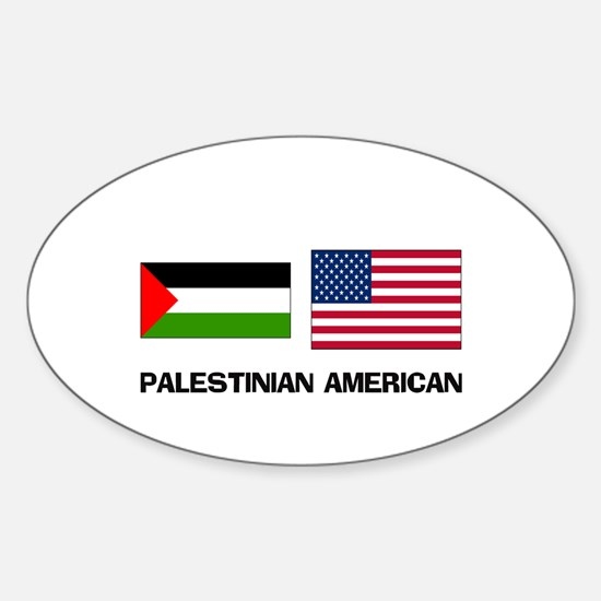 Palestinian American Oval Decal