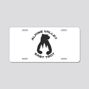 Alpine Valley Resort - Ea Aluminum License Plate