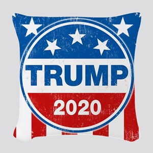 Donald Trump 2020 Woven Throw Pillow