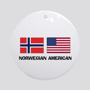 Norwegian American Ornament (Round)