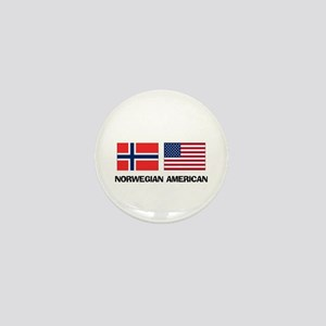 Norwegian American Mini Button