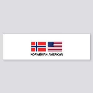 Norwegian American Bumper Sticker