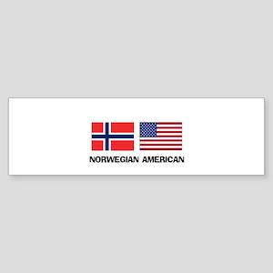 Norwegian American Bumper Sticker