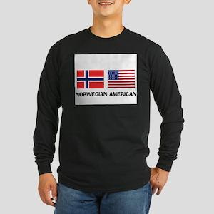 Norwegian American Long Sleeve Dark T-Shirt
