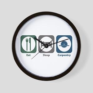 Eat Sleep Carpentry Wall Clock