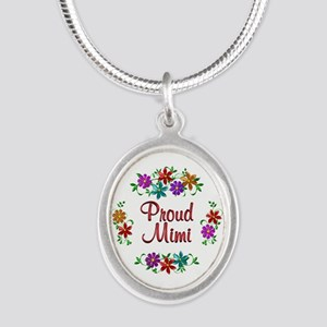 Proud Mimi Silver Oval Necklace