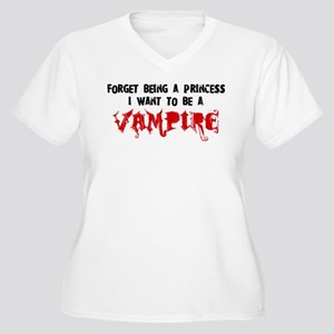 I Want to be a Vampire Women's Plus Size V-Neck T-