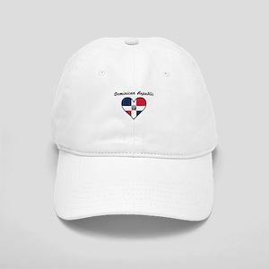 Dominican Republic Flag Heart Baseball Cap