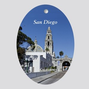 San Diego Oval Ornament