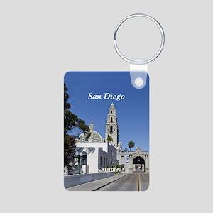San Diego Aluminum Photo Keychain