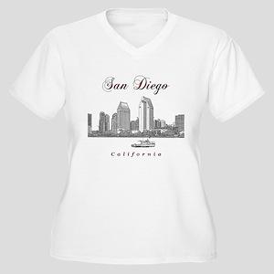 San Diego Women's Plus Size V-Neck T-Shirt