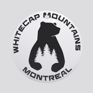 Whitecap Mountains - Montreal - W Round Ornament