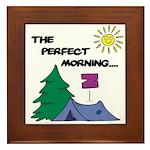 The perfect morning Framed Tile