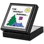 The perfect morning Keepsake Box