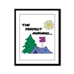 The perfect morning Framed Panel Print