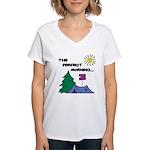 The perfect morning Women's V-Neck T-Shirt