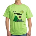 The perfect morning Green T-Shirt