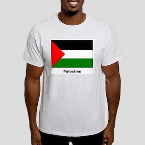 Palestine Palestinian Flag (Front) Ash Grey T-Shir