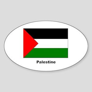 Palestine Palestinian Flag Oval Sticker