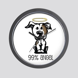 99% Angel Pit Bull Wall Clock