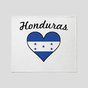 Honduras Flag Heart Throw Blanket