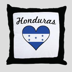 Honduras Flag Heart Throw Pillow