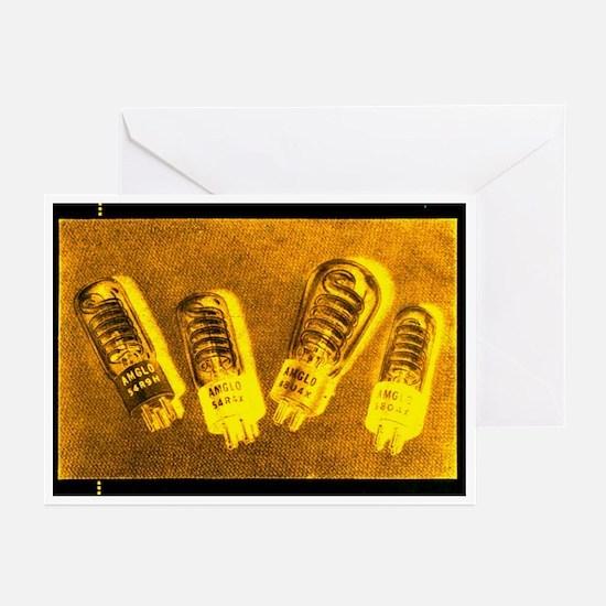 Glowing Flash Vacuum Tubes Greeting Cards (Pk of 1