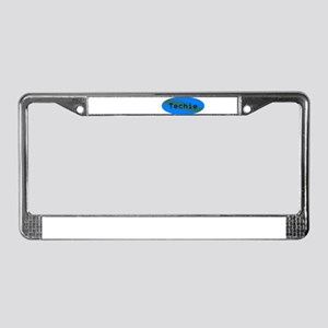 Techie License Plate Frame