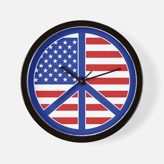 Peace in America Wall Clock