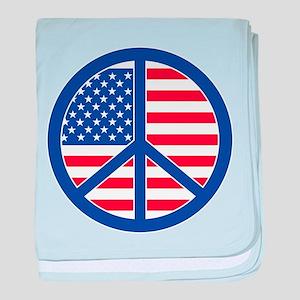 Peace in America baby blanket