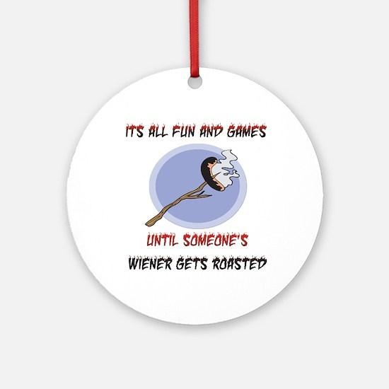 Roasted Wiener Ornament (Round)
