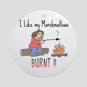 Burnt Marshmallows Ornament (Round)