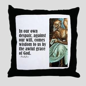 "Aeschylus ""Wisdom"" Throw Pillow"