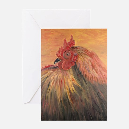 French Country Rooster Greeting Card