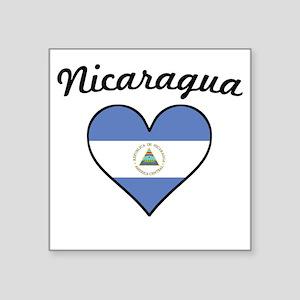 Nicaragua Flag Heart Sticker