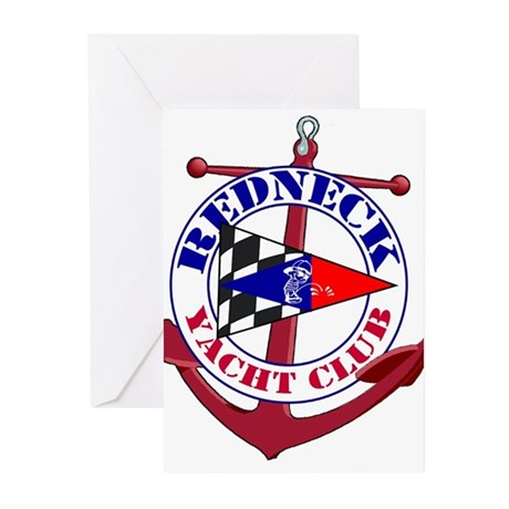 Redneck Yacht Club Greeting Cards (Pk of 10)