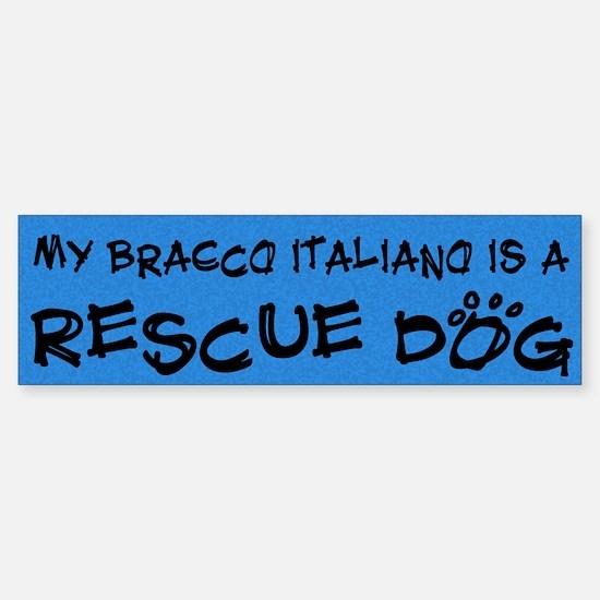 Rescue Dog Bracco Italiano Bumper Bumper Bumper Sticker