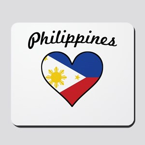 Philippines Flag Heart Mousepad