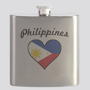 Philippines Flag Heart Flask