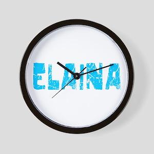 Elaina Faded (Blue) Wall Clock