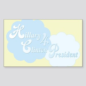 Hillary 4 President Rectangle Sticker