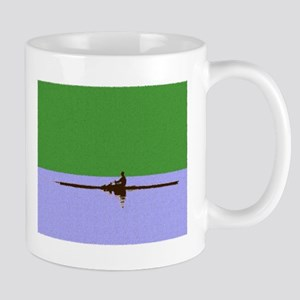 ROWER GREEN BLUE PAINTED Mug