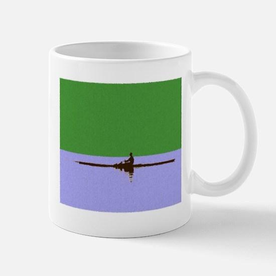 ROWER GREEN BLUE PAINTED Mug