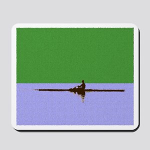ROWER GREEN BLUE PAINTED Mousepad