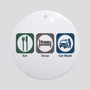 Eat Sleep Car Wash Ornament (Round)