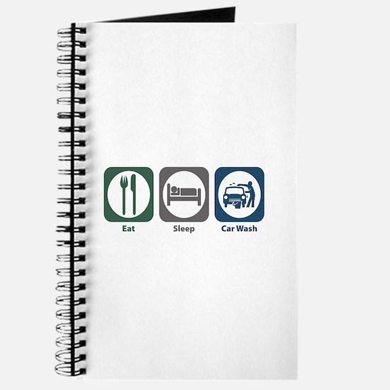 Eat Sleep Car Wash Journal