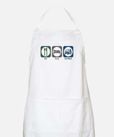 Eat Sleep Car Wash BBQ Apron