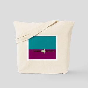 ROWER TEAL PURPLE PAINTED Tote Bag