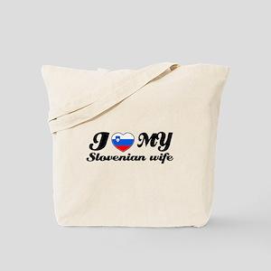 I love my Slovakian Wife Tote Bag